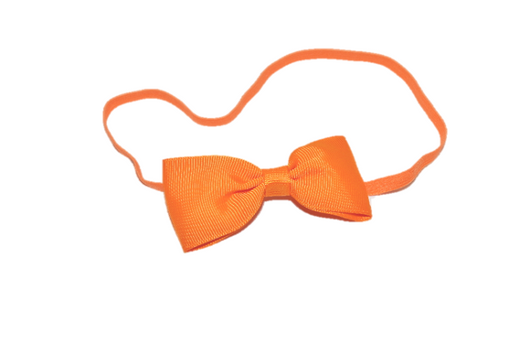 Orange Skinny Bowtie Headband - Dream Lily Designs