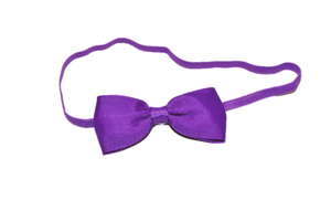 Purple Skinny Bowtie Headband - Dream Lily Designs