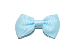 Baby Blue Small Bow Tie Hair Bow Clip - Dream Lily Designs