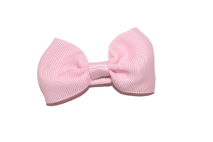 Light Pink Small Bow Tie Hair Bow Clip - Dream Lily Designs