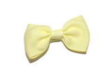Light Yellow Small Bow Tie Hair Bow Clip - Dream Lily Designs
