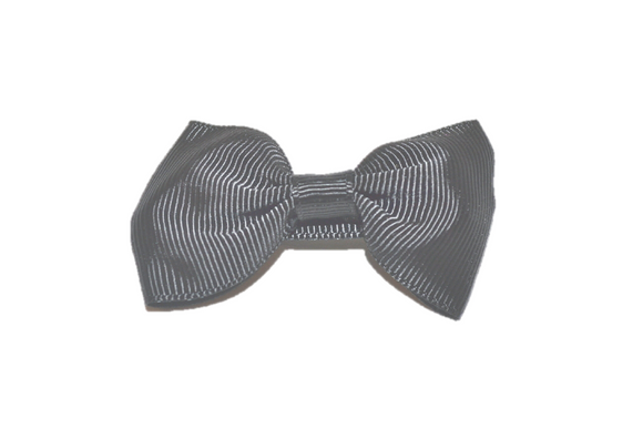 Black Small Bow Tie Hair Bow Clip - Dream Lily Designs
