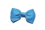 Bright Blue Small Bow Tie Hair Bow Clip - Dream Lily Designs