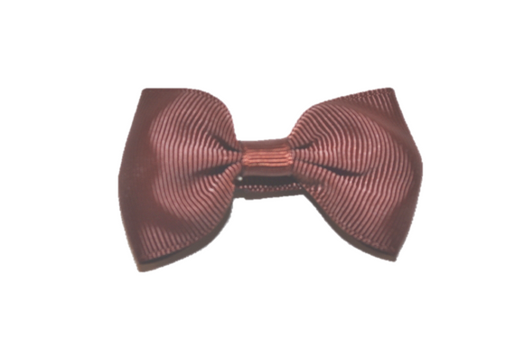 Chocolate Brown Small Bow Tie Hair Bow Clip - Dream Lily Designs
