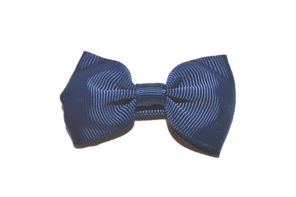 Navy Blue Small Bow Tie Hair Bow Clip
