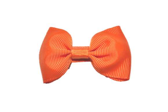 Dark Orange Small Bow Tie Hair Bow Clip