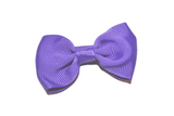 Royal Purple Small Bow Tie Hair Bow Clip - Dream Lily Designs