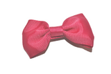 Dark Hot Pink Small Bow Tie Hair Bow Clip - Dream Lily Designs