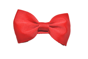 Red Small Bow Tie Hair Bow Clip - Dream Lily Designs