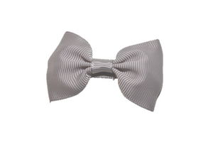 Grey Small Bow Tie Hair Bow Clip - Dream Lily Designs