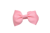 Pink Small Bow Tie Hair Bow Clip - Dream Lily Designs