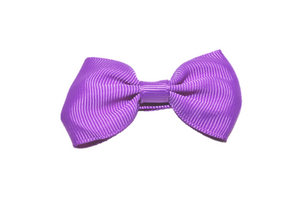 Medium Purple Small Bow Tie Hair Bow Clip - Dream Lily Designs