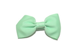 Mint Green Small Bow Tie Hair Bow Clip - Dream Lily Designs