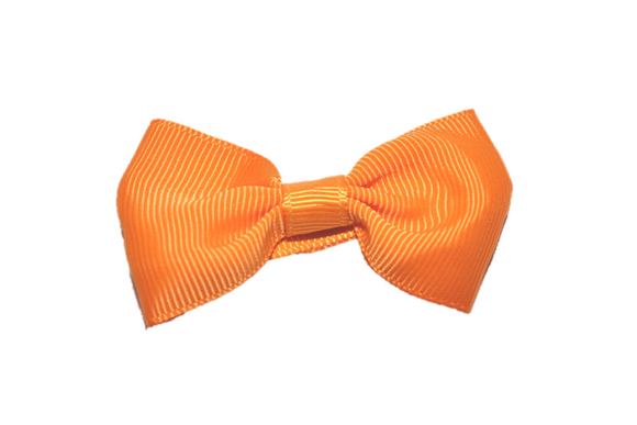 Orange Small Bow Tie Hair Bow Clip