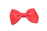 Light Red Small Bow Tie Hair Bow Clip - Dream Lily Designs