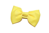 Yellow Small Bow Tie Hair Bow Clip - Dream Lily Designs