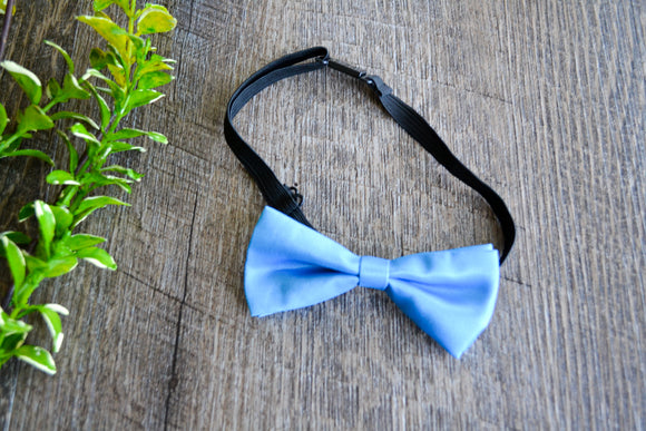 Boy Cabbie Hat, Tie and Diaper Cover Set - Bright Blue Bow Tie Only - Dream Lily Designs