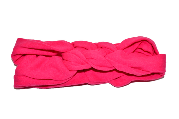 Hot Pink Braided Headband - Dream Lily Designs