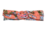 Pink Braided Headband with Blue Floral - Dream Lily Designs