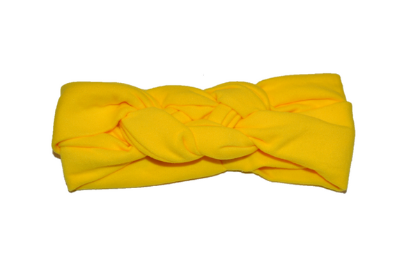 Yellow Braided Headband - Dream Lily Designs