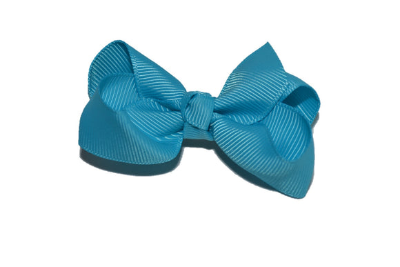 Bright Blue 2.5 Inch Boutique Hair Bow - Dream Lily Designs