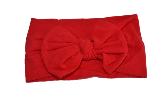 Red Nylon Bow Knot Baby Wide Headband - Dream Lily Designs