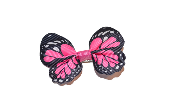 Butterfly Hair Clip - Bubblegum Pink - Dream Lily Designs