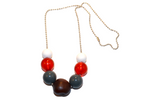 Buckeye Beaded Chain Necklace - Dream Lily Designs