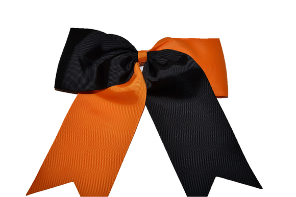 Orange and Black Cheer Bow