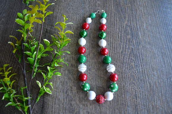 Red Green White Christmas Chunky