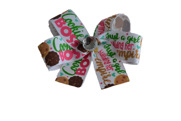 Girl Scout Cookie Boss Bow (Girl Scouts) - Dream Lily Designs