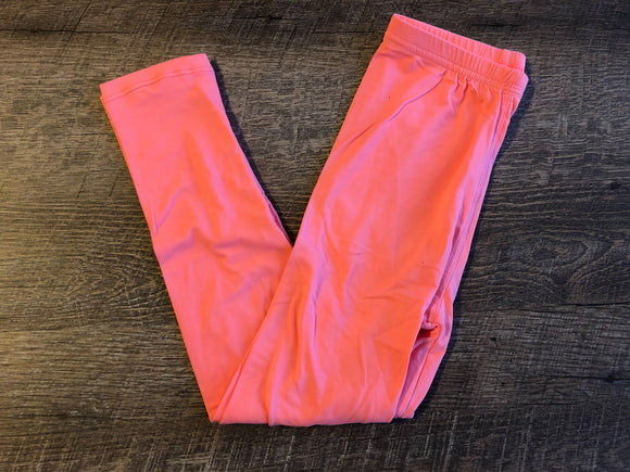 Girls Kids Ultra Soft Leggings - Legging Depot Brand - Ankle Length - School or Play - Coral - Dream Lily Designs