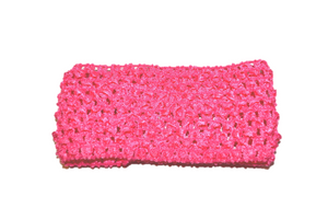 "Pink 2.5"" Crochet Headband - Dream Lily Designs"