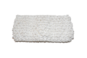"White 2.5"" Crochet Headband"