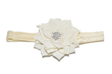 Cream Crystal Lily Headband - Dream Lily Designs