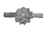 Grey Crystal Lily Headband - Dream Lily Designs