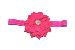 Hot Pink Crystal Lily Headband - Dream Lily Designs