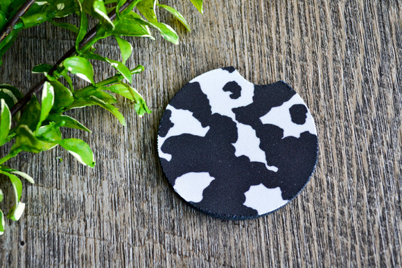Car Coaster - Cow Print - Dream Lily Designs