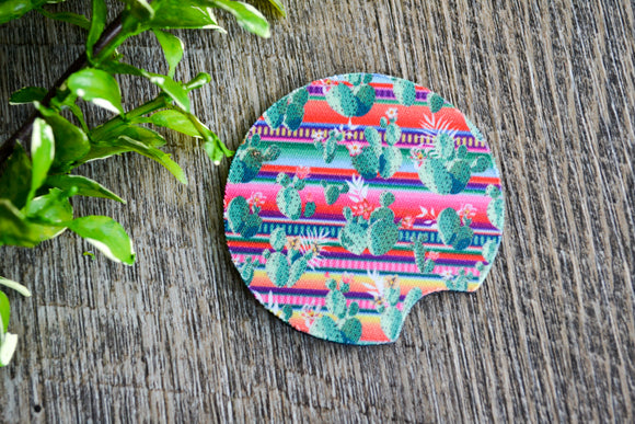 Car Coaster - Colorful Cactus - Dream Lily Designs