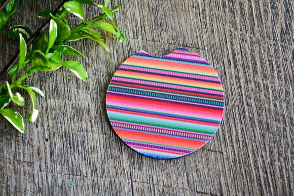 Car Coaster - Colorful Stripes - Dream Lily Designs