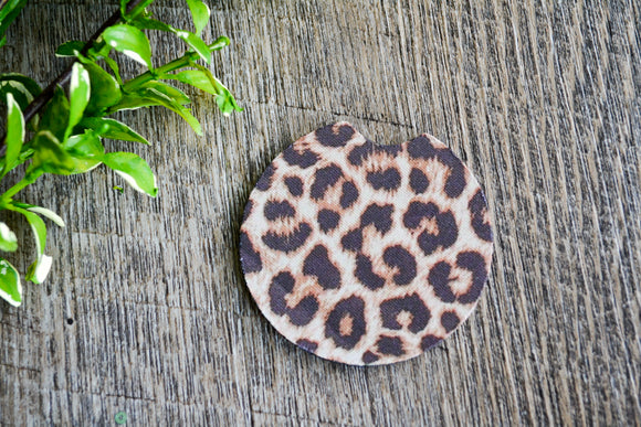 Car Coaster - Cheetah Print - Dream Lily Designs