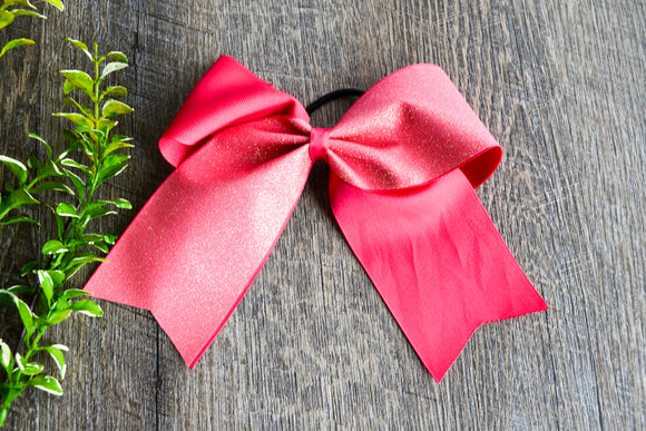 Hot Pink Sparkle Cheer Bow - Dream Lily Designs