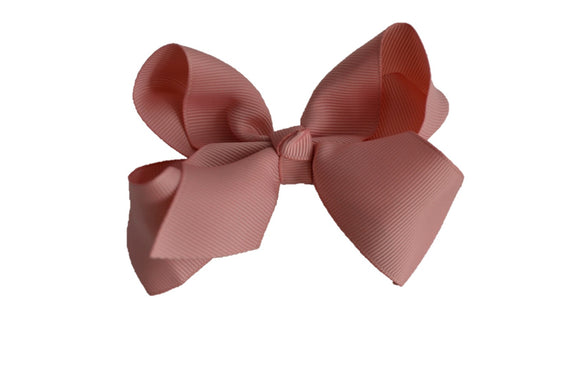 4 Inch Boutique Hair Bow Mauve Rose Pink - Dream Lily Designs