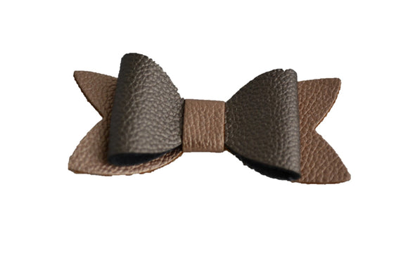 Copper Bronze Leather Hair Bow - Dream Lily Designs