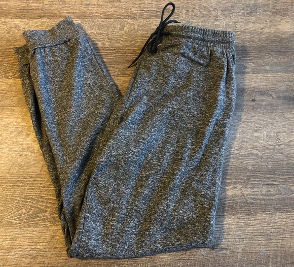 Womens or Teen Ultra Jogger Pants - Legging Depot Brand - Ankle Length - Dark Heather Grey - Dream Lily Designs