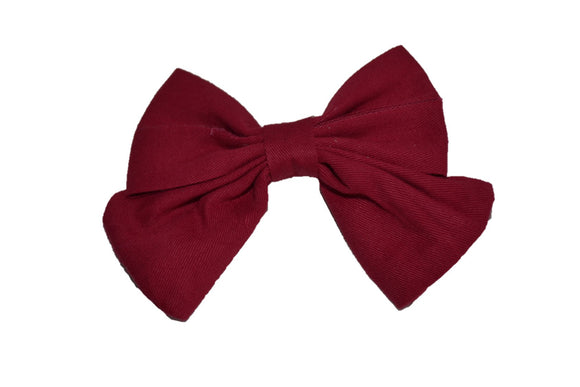 Maroon Cotton Baby Hair Bow - Dream Lily Designs