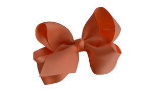 4 Inch Boutique Hair Bow Peach - Dream Lily Designs