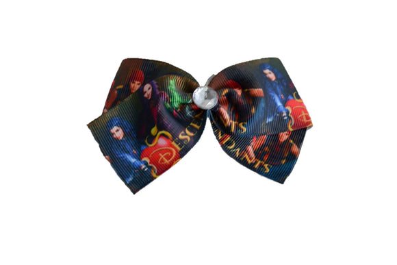 Descendants Movie Brown Hair Bow (Disney) - Dream Lily Designs