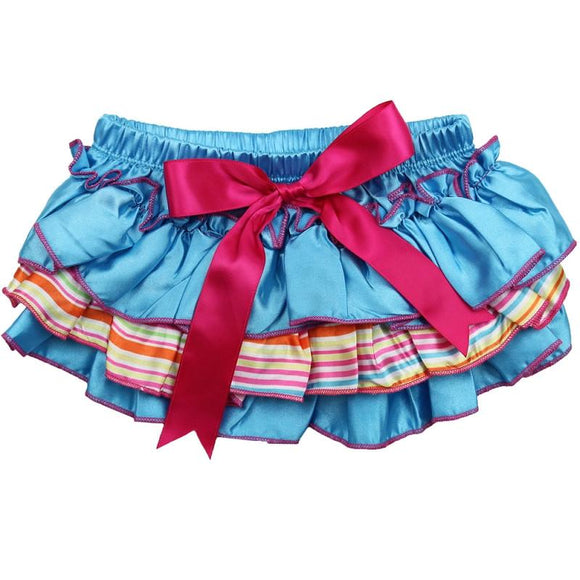 Blue and Pink Ruffle Diaper Cover