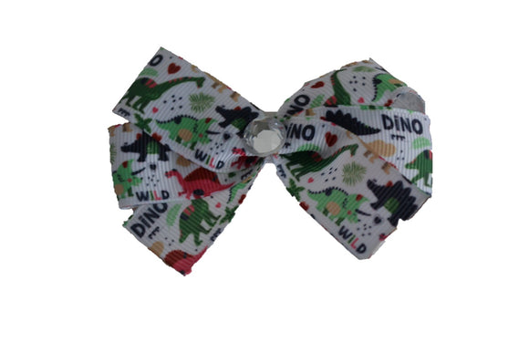 1 Inch Dinosaur Pattern Bow (Animal) - Dream Lily Designs